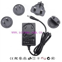 12V2A Interchangeable plug power adapter BH-ICP24-1202000
