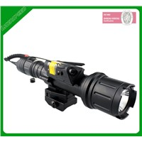 Laser sight with tactial light for gun