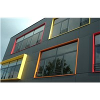 Full steel frame heat insulation window and door,partition wall
