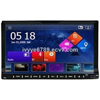 "2-Din Universal Car DVD GPS Player, 7"", Bluetooth, Radio"