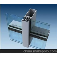 Steel frame glass curtain wall
