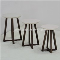 Wooden Nest Table Side Table Modern Coffee Table Solid Wood Flower Stands High Gloss Corner Table