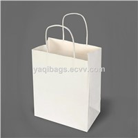 White kraft paper bags/shopping bags
