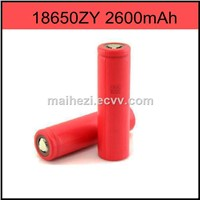 new products 2016  18650 3.7V 2600mAh Li-ion Battery Cell 18650zy  for e-cig mod