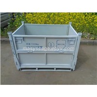 Collapsible Steel Container Galvanized Steel Storage Bin