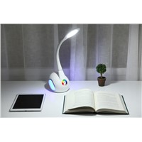12W Bluetooth Audio Touching Romantic Changable Swan LED Table Lamp for Bedroom