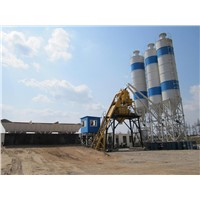 75M3/H HZS75 China Hot Concrete Batching Plant
