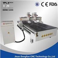 Double heads wood carving cnc router