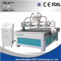 2016 china QC1325 3d cnc router 4 axis cnc router engraver machine