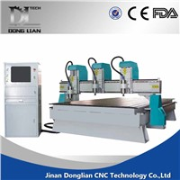 Efficient professional three heads 3d cnc router 1325/ 3d cnc machine /cnc milling machine