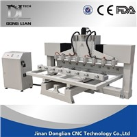8 spindles multi head 4 axis cnc machine cnc router for furniture legs