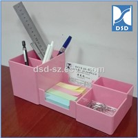 Student Office Stationary Desktop Multifunction Pen Stand Plastic Pencil Holder Gift