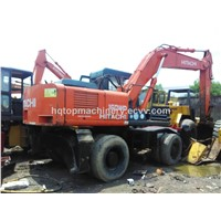 Used Wheel Excavator Hitachi EX160WD Second-Hand Hitachi Hydraulic Digger