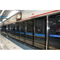 rail transit platform screen door for safe