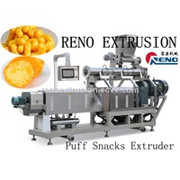 puff cheese ball machinery twin screw extruder