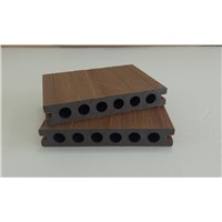 Villa building material Capped PE composite decking Skirted WPC co-extrusion
