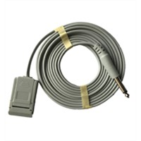 Reusable Cable (Lead wire) for ESU Grounding Pad (MA2000WL-HFG) , HIFI Plug,ISO13485 Certificate