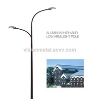 corrosion resistant double arm street lighting pole