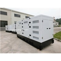 750KVA water cooled low noise diesel generators with AC alternator