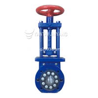 Rubber gate valve