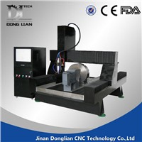 cnc stone/metal router with rotary device and dust collector