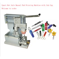 simple and manual close ink cup pad printing machine