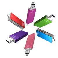 3-in-1 OTG USB3.0 Flash Drive Memory sticsk pendrives for iPhone 5/5S/6/6Plus/Android& PC