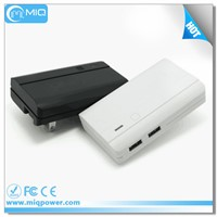 5V 2A Dual usb power bank 4400mah with AC outlet for smart phones