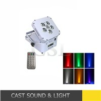 6*10w 6in1 DMX wirelss battery powered led flat par, fullcolor led par light