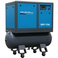 belt driven mobile screw compressor air machine with 270L tank
