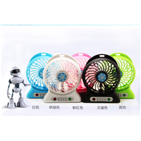 portable mini electronic fan rechargeable fan with USB power bank strong wind