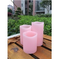 home decor , holiday use, attractive pink distressed led candle