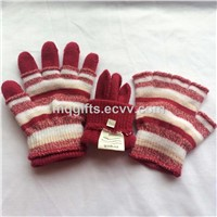 Fashion Multifunction Knitted Winter Gloves Two-Piece Suit