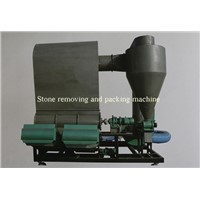 Stone removing and packing machine