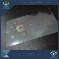 security id hologram overlay for plastic card