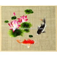 Chinese Grass China Linen China Grass Handmade Ramie Cloth Embroidery Cloth