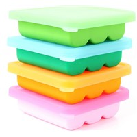 food grade ice brick mould 9 cavities silicone Ice Cube Tray with cover