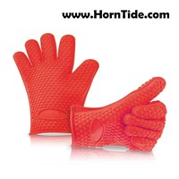 HornTide Heat Resistant Gloves Silicone Oven Mitts Withstand 230C 446F