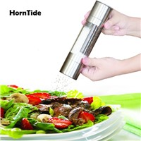 HornTide Salt & Pepper Mill Set 2-in-1 Grinder Spice Shaker Manual Grinding