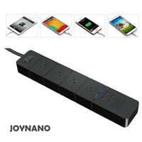 JoyNano 4AC 4USB Power Strip 2500W 10A Surge Protector