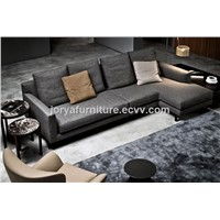 Modern L Shaped Sofa High Quality Fabric Leisure Sofa Three-Seat Sofa Couch Sofa Corner Sofa