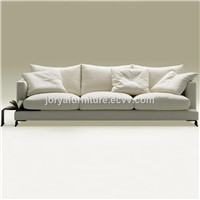 Modern Living Room Three-Seat Sofa High Quality Cotten & Linen Fabric Sofa Couch Sofa