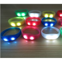 Novelty LED lighting silicone watch