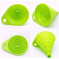 novelty food grade FDA silicone folding funnel portable candy silicon funnel