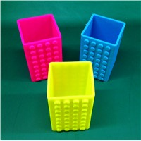 FDA eco friendly novelty silicone pen holder pen cover container
