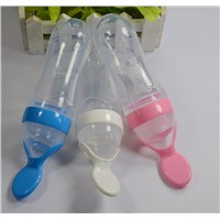 silicone baby feeding bottles training spoons squeeze supplement food bottles 90ml
