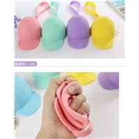New arrival lovely silicone coin bag cap-shaped zipper coin purses