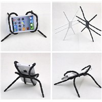 PVC spider shaped flexible cellphone holder mobile phone stand holder