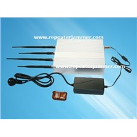 10W Cell Phone Signal Jammer Blocker Isolator Supplier , 24 Hours Working With Remote Control