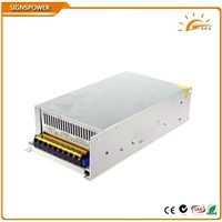 24V 25A 600W Power Supply waterproof outdoor led driver